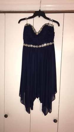 Queenly size 8  Blue A-line evening gown/formal dress