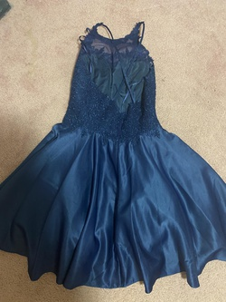 Dancing Queen Blue Size 8 Flare Cocktail Dress on Queenly