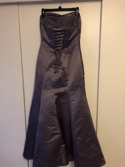 Bill Levkoff Purple Size 6 Corset Strapless Mermaid Dress on Queenly