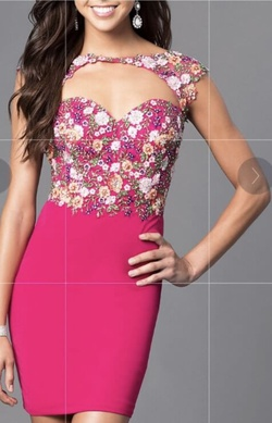Queenly size 14  Pink Cocktail evening gown/formal dress