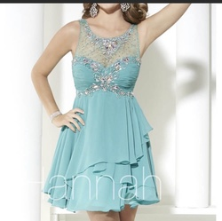 Queenly size 16 Hannah S Blue Cocktail evening gown/formal dress