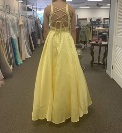 Madison James Yellow Size 8 Prom Silk Ball gown on Queenly