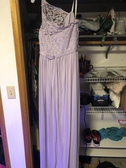 Davids Bridal Purple Size 14 Bridesmaid Side slit Dress on Queenly