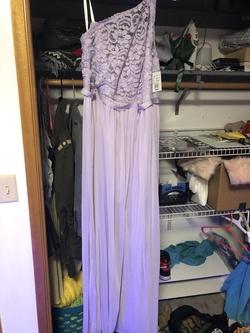 Davids Bridal Purple Size 14 Plus Size Side slit Dress on Queenly