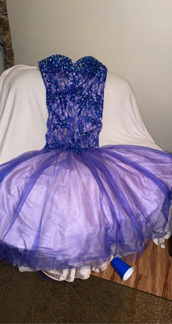 Queenly size 8  Blue Mermaid evening gown/formal dress