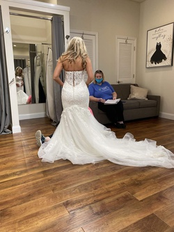 Maggie Sottero White Size 6 Wedding Sweetheart Mermaid Dress on Queenly