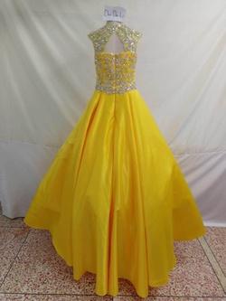 Dandan Li  Yellow Size 0 Sequin Ball gown on Queenly