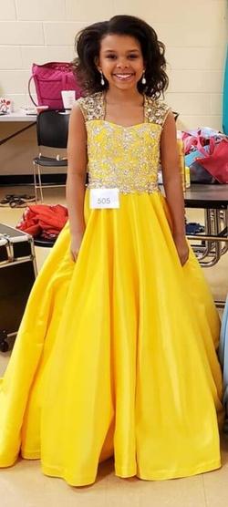 Queenly size 0 Dandan Li  Yellow Ball gown evening gown/formal dress