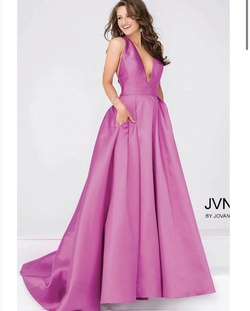 Jovani Purple Size 4 Backless Ball gown on Queenly