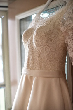 Allure Romance White Size 6 Sleeves Train Lace A-line Dress on Queenly