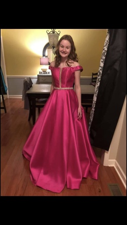 Jovani Pink Size 2 Pageant Ball gown on Queenly