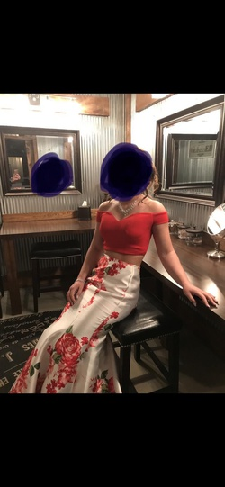 B Darlin Red Size 2 Mermaid Dress on Queenly