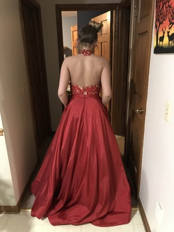 Sherri Hill Red Size 6 Short Height Ball gown on Queenly