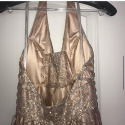 Panoply Gold Size 0 Plunge Sheer Ball gown on Queenly