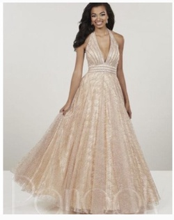 Queenly size 0 Panoply Gold Ball gown evening gown/formal dress