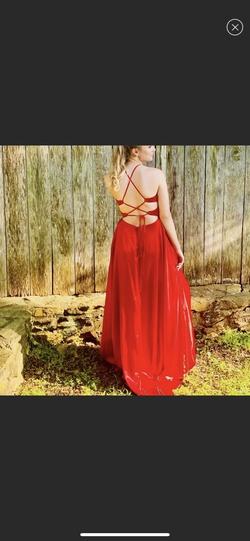 Windsor Red Size 4 Halter Silk Side slit Dress on Queenly