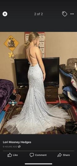 Sherri Hill Blue Size 00 Corset Mermaid Dress on Queenly