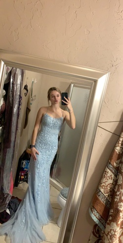 Queenly size 00 Sherri Hill Blue Mermaid evening gown/formal dress