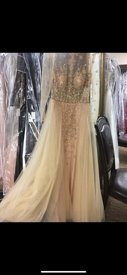 Queenly size 2 Jovani Gold Ball gown evening gown/formal dress