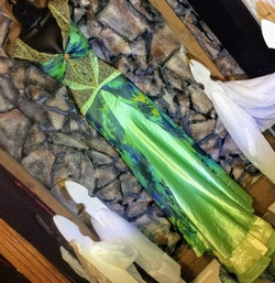 Green Size 14 Train Dress on Queenly