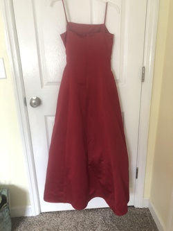 David's Bridal Red Size 00 Bridesmaid Straight Dress on Queenly