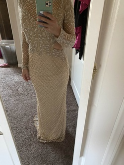 Primavera Nude Size 0 Sleeves Prom Straight Dress on Queenly