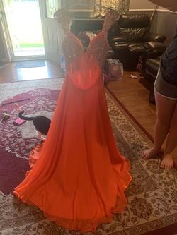 Orange Size 8 Train Dress on Queenly