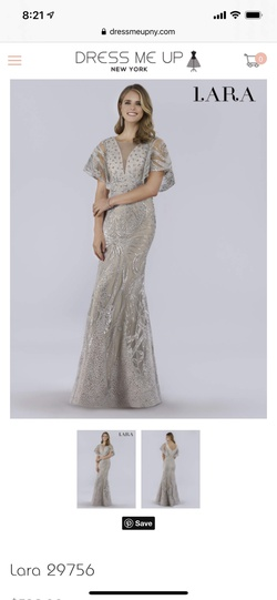 Queenly size 18 Lara Silver Mermaid evening gown/formal dress