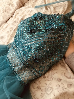 Camille La Vie Blue Size 00 Halter Backless Ball gown on Queenly