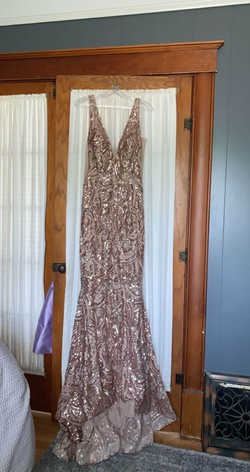 Gold Size 10 Mermaid Dress on Queenly