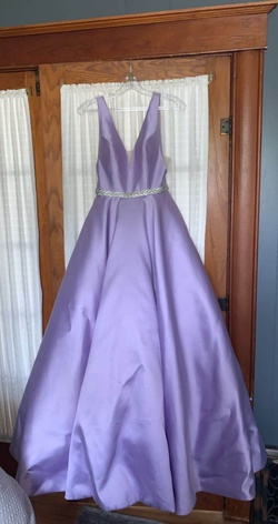 Queenly size 2 Sherri Hill Purple Mermaid evening gown/formal dress