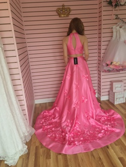 Sherri Hill Pink Size 2 Pageant Halter A-line Dress on Queenly