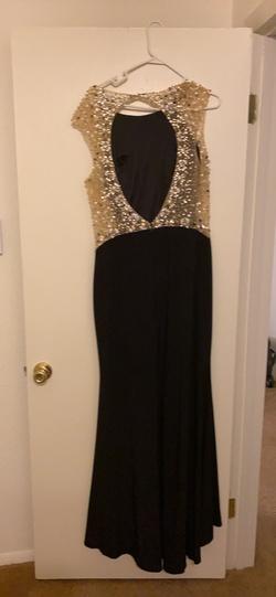 Black Size 16 Side slit Dress on Queenly