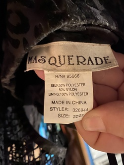 Masquerade Black Size 24 Sorority Formal Cocktail Dress on Queenly