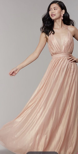 Queenly size 10  Pink A-line evening gown/formal dress