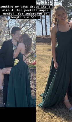 Green Size 4 Side slit Dress on Queenly
