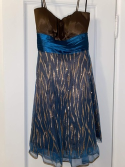 Queenly size 12  Multicolor Cocktail evening gown/formal dress