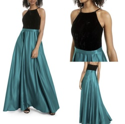 Queenly size 4  Green Ball gown evening gown/formal dress