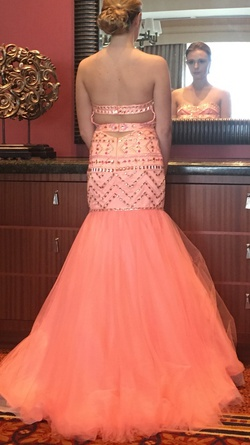 Rachel Allan Orange Size 4 Mermaid Dress on Queenly