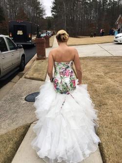 Mori Lee White Size 2 Ruffles Corset Train Mermaid Dress on Queenly