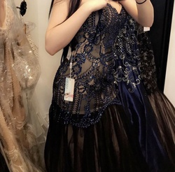 Vienna Blue Size 8 Prom Mermaid Dress on Queenly