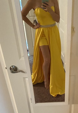 Jovani Yellow Size 2 Pageant Romper/jumpsuit A-line Dress on Queenly