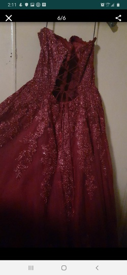 Sherri Hill Red Size 14 Corset Tulle Sweetheart Ball gown on Queenly