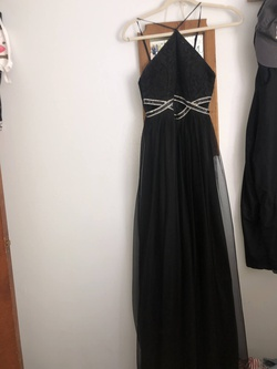 Queenly size 2  Black Side slit evening gown/formal dress