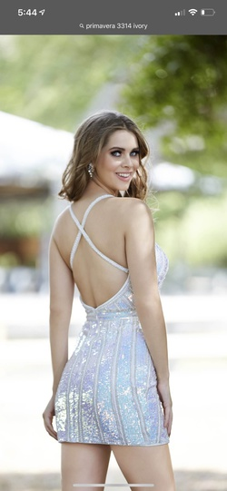 Primavera Multicolor Size 0 Backless Sorority Formal Cocktail Dress on Queenly