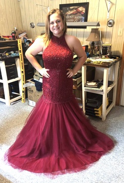 Queenly size 10  Red Mermaid evening gown/formal dress