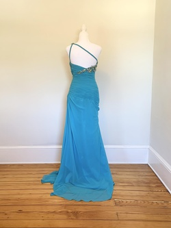 Tony Bowls Blue Size 2 Tall Height Straight Dress on Queenly