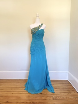 Tony Bowls Blue Size 2 Straight Dress on Queenly