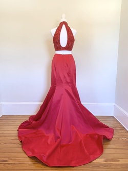 Sherri Hill Red Size 4 Prom Mermaid Dress on Queenly