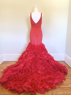 Sherri Hill Red Size 6 Mermaid Dress on Queenly